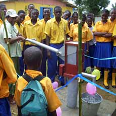 New well at Victory Chapel School in Liberia