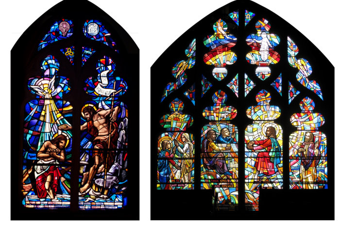 St. Andrew's Baptism and Resurrection windows